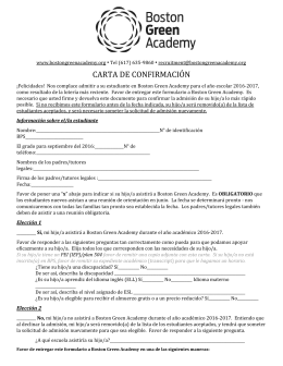 carta de confirmación - Boston Green Academy