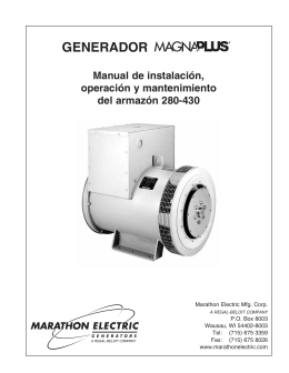 generador - Marathon Electric