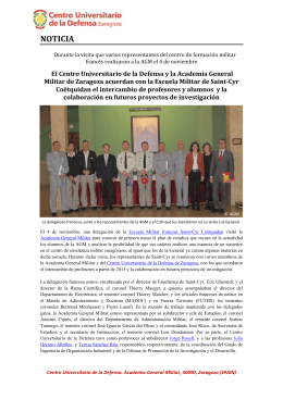 noticia - Centro Universitario de la Defensa