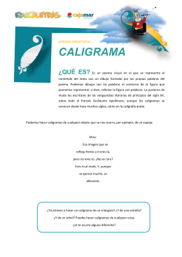 caligrama - Educaletras