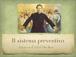 Il sistema preventivo di don Bosco