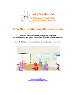 Guía Neuronilla para generar ideas