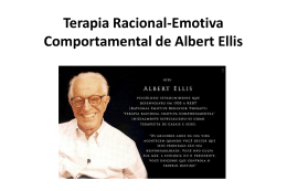 Terapia Racional-Emotiva Comportamental de Albert Ellis