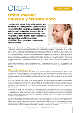 Otitis media: causas y tratamiento - ORL
