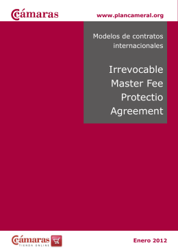 Irrevocable Master Fee Protectio Agreement