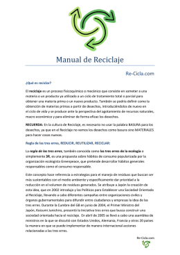 Manual de Reciclaje - Re