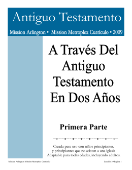 Antiguo Testamento - Mission Arlington