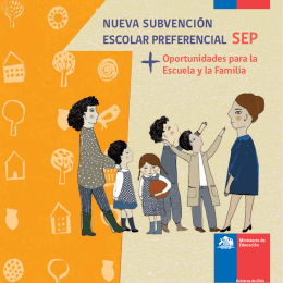 Folleto SEP para padres - Subvención Escolar Preferencial (SEP)