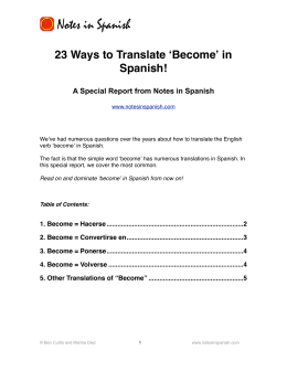 23 Ways to Translate Become in Spanish
