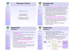 Memoria Virtual Introducción Paginación Paginación