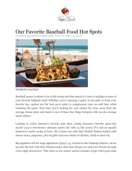 Our Favorite Baseball Food Hot Spots