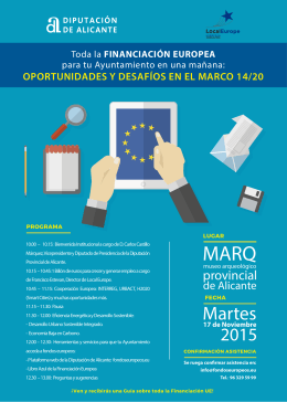 PROGRAMA FINANCIACION EUROPEA DIP. ALICANTE