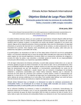Objetivo Global de Largo Plazo 2050