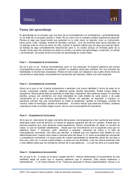 Fases del aprendizaje - Coaches Training Institute