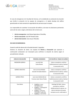 Plan de Emergencia - Facultad de Ciencias