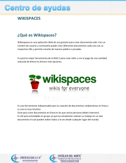 WIKISPACES ¿Qué es Wikispaces?