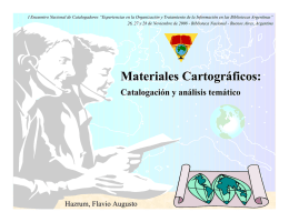 Materiales Cartográficos