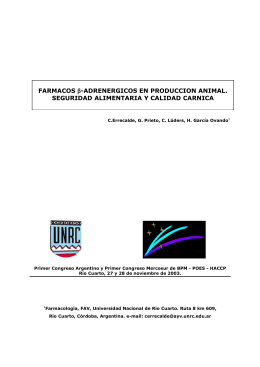 FARMACOS β-ADRENERGICOS EN PRODUCCION ANIMAL