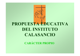 propuesta educativa del instituto calasancio