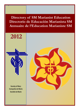 Directory of SM Marianist Education Directorio de