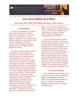 Las raíces judías de la Misa - United States Conference of Catholic