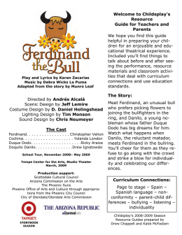 Ferdinand the Bull Resource Guide.pub