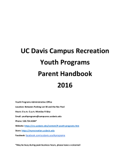Parents Handbook 2016 - UC Davis Campus Recreation and Unions