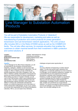 Line Manager to Substation Automation Products