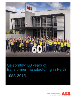 Celebrating 60 years of transformer manufacturing in Perth