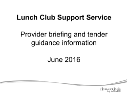 Lunch Clubs Tender Guidance FINAL