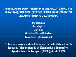 Asesorías - Universidad de Zaragoza