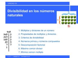 Divisibilidad en los números naturales