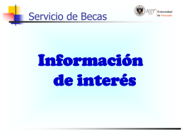 Servicio de Becas - Vicerrectorado de Estudiantes
