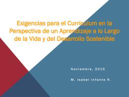 Exigencias para el curriculum en la perspectiva de un