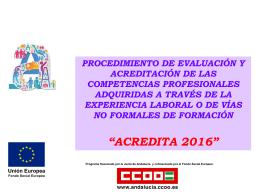 Presentación Acredita 2016 - Comisiones Obreras de Andalucía