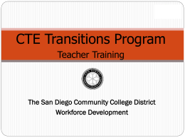 High School Faculty - San Diego - CTE Credit by Exam