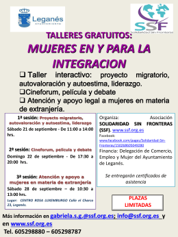 info document - Área de Mujeres | ECO Leganés