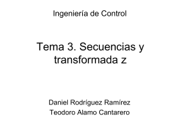 Secuencias y transformada z
