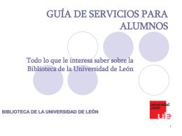 guía de servicios para alumnos