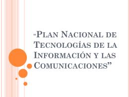 Plan Nacional TIC`s - Eliana Hernandez – LIMAV
