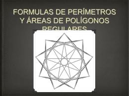 formulas de perímetros y áreas de polígonos regulares