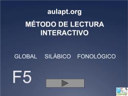 aulapt.org MÉTODO DE LECTURA INTERACTIVO