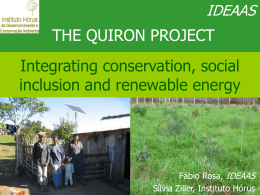 THE QUIRON PROJECT