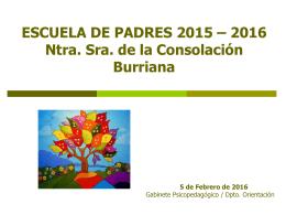 Presentación - Colegio Ntra. Sra. de la Consolación de Burriana
