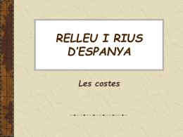 RELLEU ESPANYA 2 Costes i rius (Hidrografia)