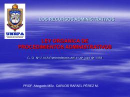 los recursos administrativos - Página Personal de Carlos Pérez