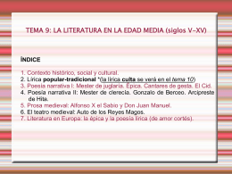 esquema literatura EDAD MEDIA power point