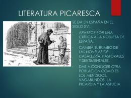 LITERATURA PICARESCA