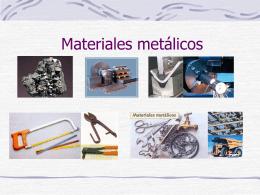 Los metales (Presentación con diapositivas de powerpoint)
