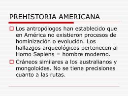 Prehistoria Americana